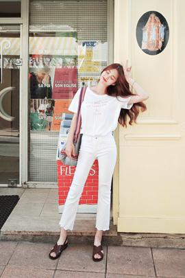 white cotton, pants