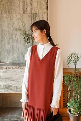 corduroy frill, blouse
