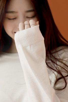azure, knit (ivory)