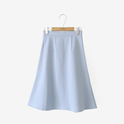 with denim two, skirt