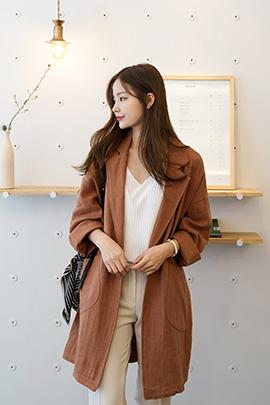 linen orange, jacket