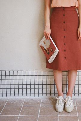 orange cong, skirt