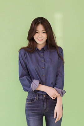 bluemoon, blouse (deep blue)