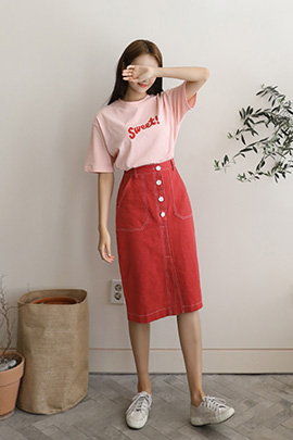 page stitch, skirt