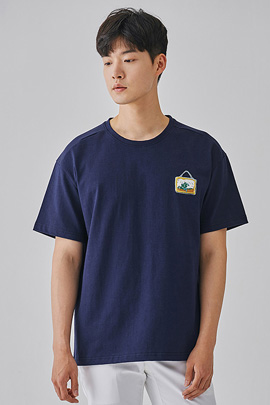 [JIMMY]frame navy, tee_m