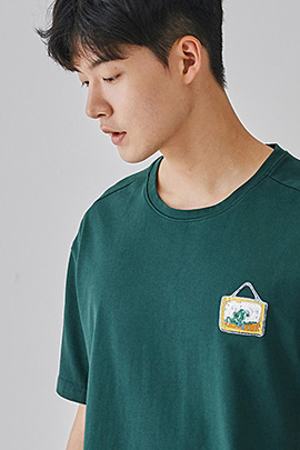 [JIMMY]frame green, tee_m
