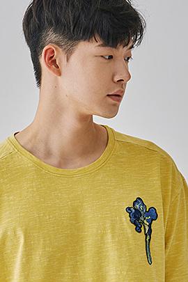 [JIMMY]irises yellow, tee_m