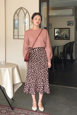 pink puff, knit