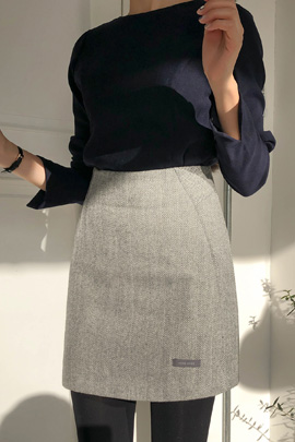 herringbone wool, skirt