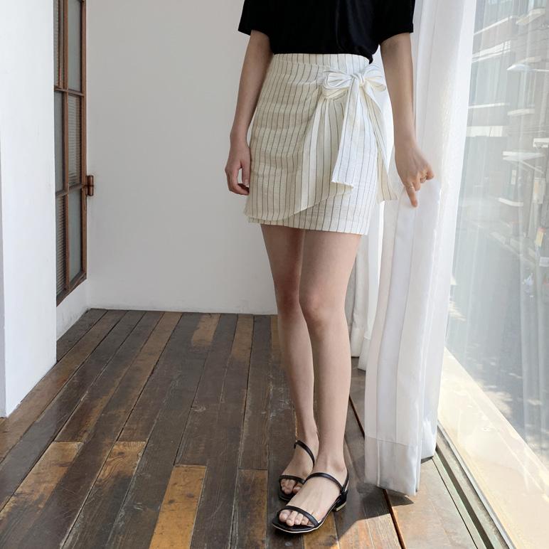 リボンストライプスカート