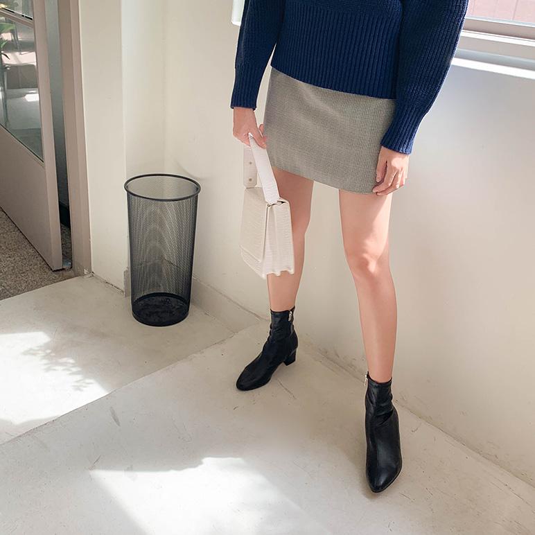 チェックショットスカート