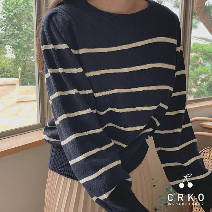 Stripe Shirring Knit